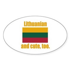 Cute Lithuanian Oval Decal