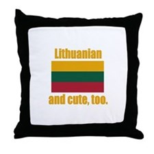 Cute Lithuanian Throw Pillow