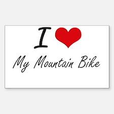 I Love My Mountain Bike Decal