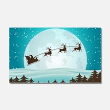 Christmas Night With Santa On His Sled Car Magnet