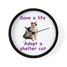 Shelter Cat Wall Clock