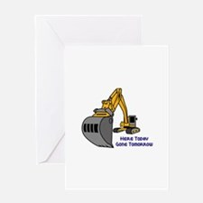 Gone Tomorrow Greeting Cards