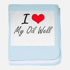 I Love My Oil Well baby blanket