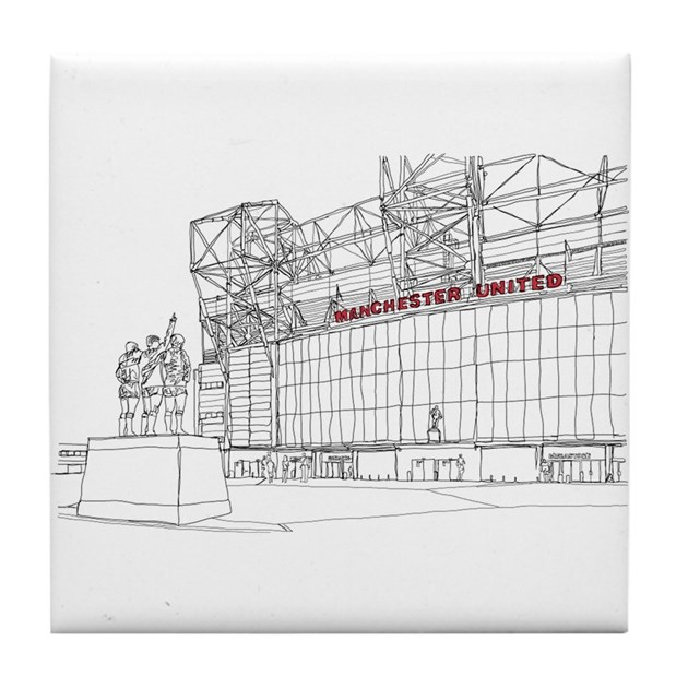 Old Trafford Tile Coaster By Admin Cp131798252