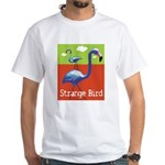 Strange Bird - Flamingo White T-Shirt
