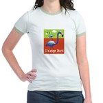 Strange Bird - Flamingo Jr. Ringer T-Shirt