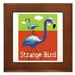 Strange Bird - Flamingo Framed Tile