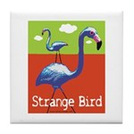 Strange Bird - Flamingo Tile Coaster