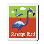 Strange Bird - Flamingo Mousepad