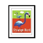 Strange Bird - Flamingo Framed Panel Print