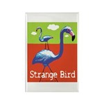 Strange Bird - Flamingo Rectangle Magnet (100 pack