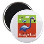 Strange Bird - Flamingo Magnet