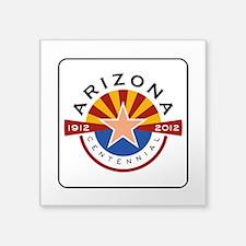"Arizona Centennial 1912-201 Square Sticker 3"" x 3"""