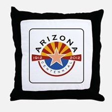Arizona Centennial 1912-2012 - USA Throw Pillow