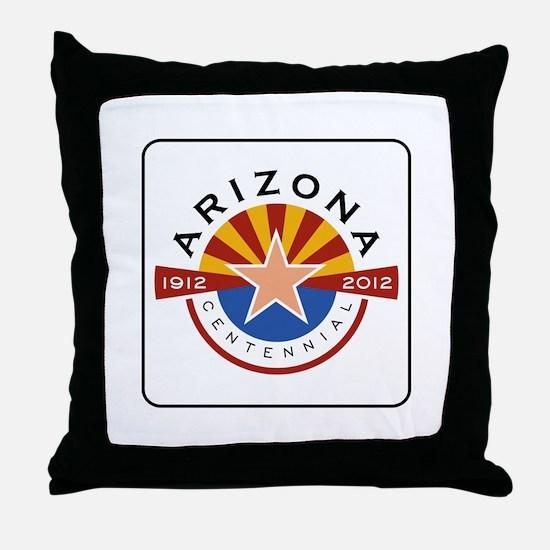 Arizona Centennial 1912-2012 - USA Throw Pillow