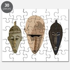 African Dogon Masks Puzzle