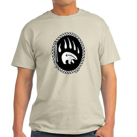 First Nations Tribal Bear Art Light T-Shirt