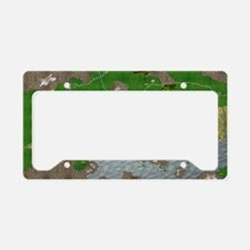 Map License Plate Holder
