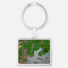 Map Landscape Keychain