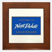 Welcome to North Dakota - USA Framed Tile