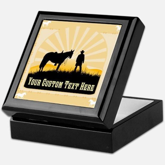 Personalized Western Keepsake Box