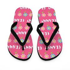 Grammy Grandma Flowered Flip Flops