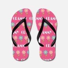 Grammy Grandma Flowered Flip Flops
