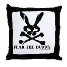 Fear the Bunny. Throw Pillow