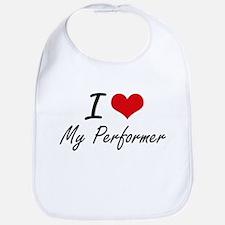 I Love My Performer Bib