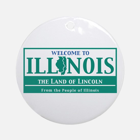 Welcome to Illinois - USA Round Ornament