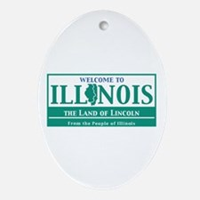 Welcome to Illinois - USA Oval Ornament