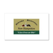 Welcome to New Hampshire - USA Car Magnet 20 x 12