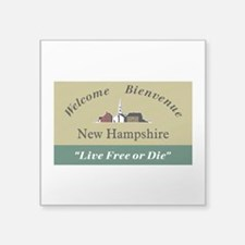 """Welcome to New Hampshire - Square Sticker 3"""" x 3"""""""