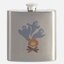 Campfire Ghosts Flask