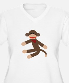 Sock Monkey Plus Size T-Shirt