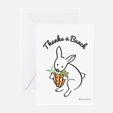 Thanks A Bunch - Rabbit Greeting Cards