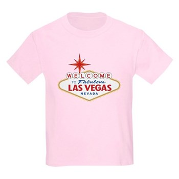Welcome to Fabulous Las Vegas, Kids Light T-Shirt