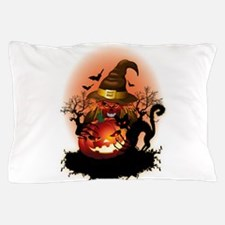 Skull Witch Creepy Halloween Pillow Case