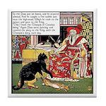 VINTAGE CAT ART Tile Coaster