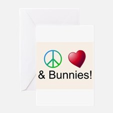 Peace Love Bunnies Greeting Cards