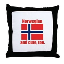 Cute Norwegian Throw Pillow