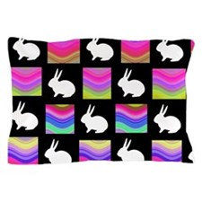 Retro Rabbit Pillow Case