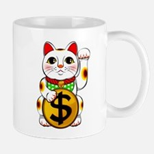Dollar Lucky Cat Maneki Neko Mugs