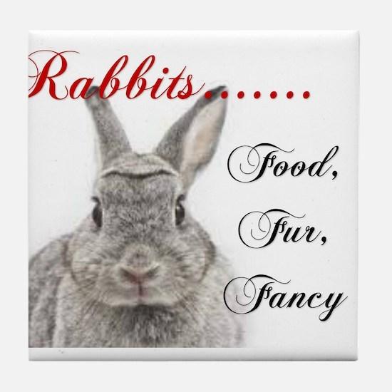 Food Fur Fancy Tile Coaster