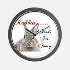 Food Fur Fancy Wall Clock