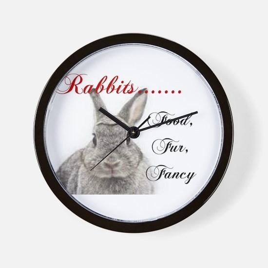 Food Fur Fancy Wall Clock