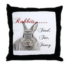 Food Fur Fancy Throw Pillow