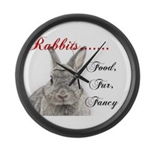 Food Fur Fancy Large Wall Clock