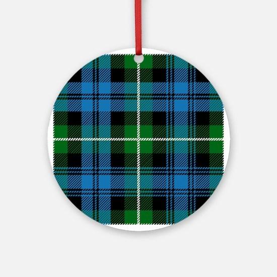 Lamont Scottish Tartan Round Ornament