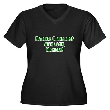 Michigan State Spartans Women's Plus Size V-Neck D